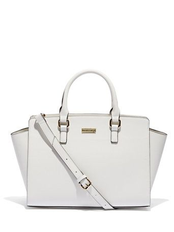 6fa959b723e1c Winged Faux-Leather Tote Bag | Work Attire | Bags, Satchel handbags ...