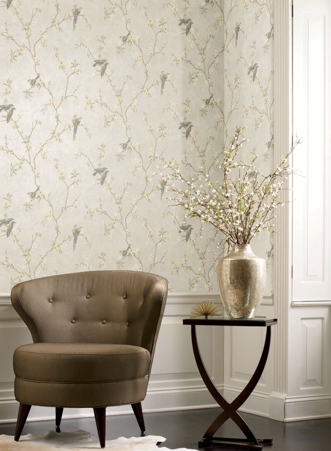 Fanciful Wallcovering In Color Mist From Fabricut S Color