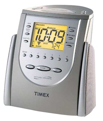 Timex T309T Alarm Clock Radio with Nature Sounds (Titanium) (Discontinued  by Manufacturer) 9b5f18a6e