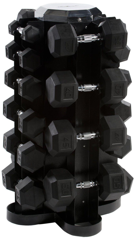Cap barbell rubber hex dumbbell set 550