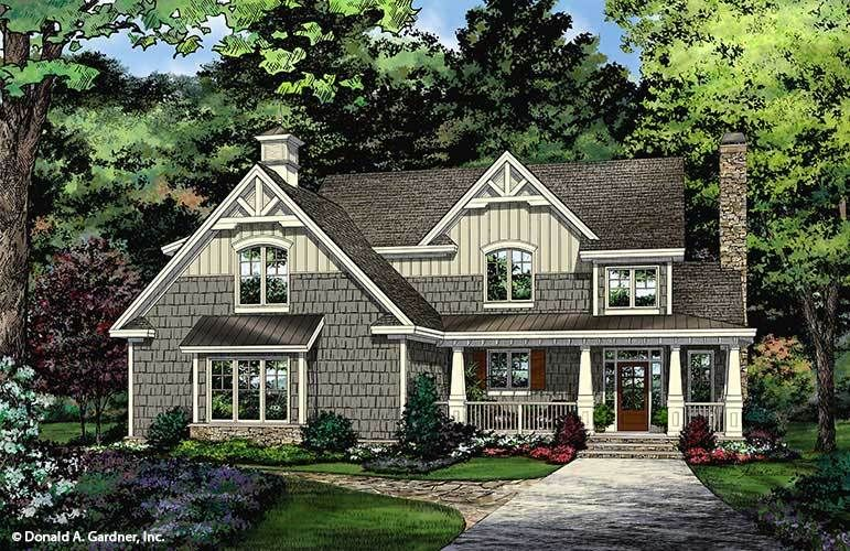 Plan of the Week Under 2500 sq ft - The Carson house plan 1423!  2103 sq ft   3 Beds   2.5 Baths #wedesigndreams #dongardnerarchitects #architecture #architect #houseplan #homeplan #dreamhouse #dreamhome #floorplans #newhome #newhouse