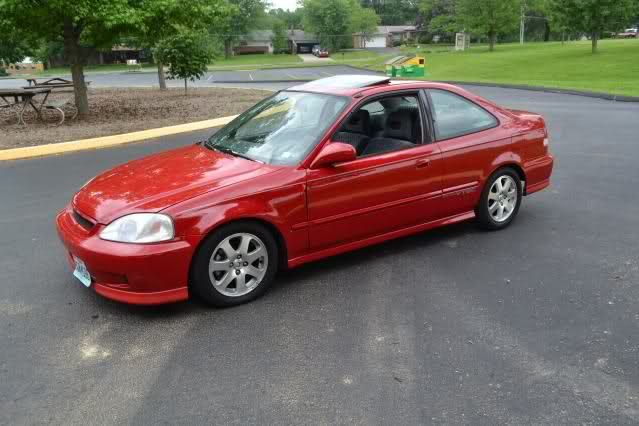 Honda Honda Civic Si 1999 Red Car Wallpapers Honda Civic Si Honda Civic Civic Coupe