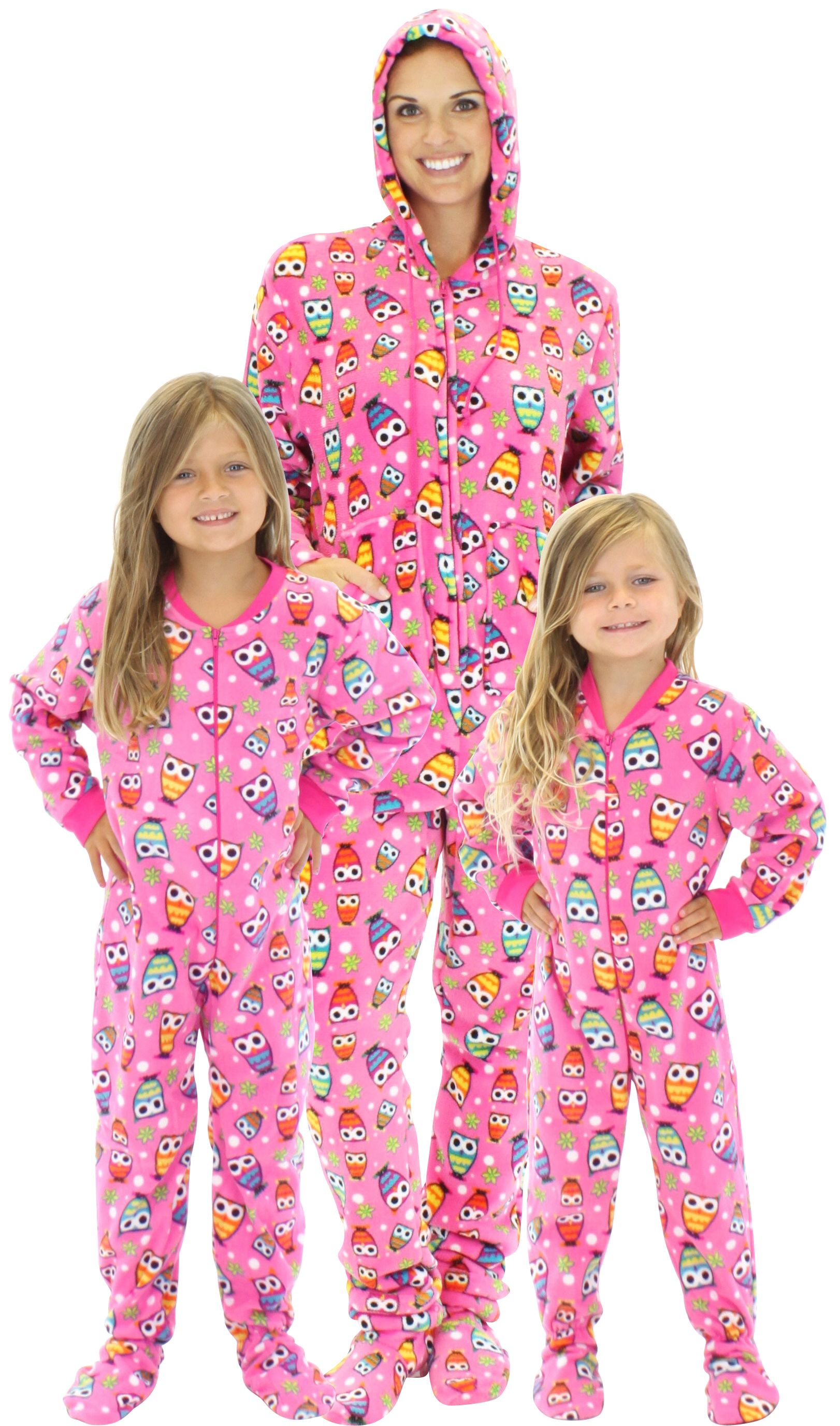 Holiday Matching Family Pajamas Blue Snowflakes Footed Pajamas ...