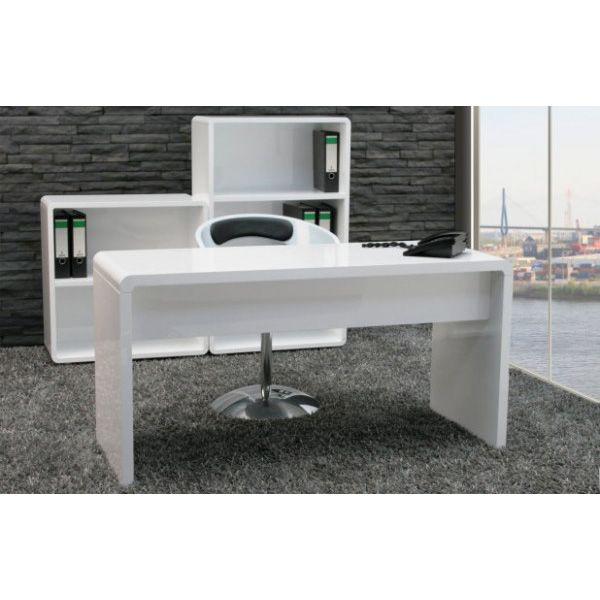 High Gloss Computer Desk White Home Garden For Executive