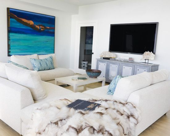 Beach Theme Living Room Colors | Wonderful Beach Home With Chic Interior: Fancy  Living Room
