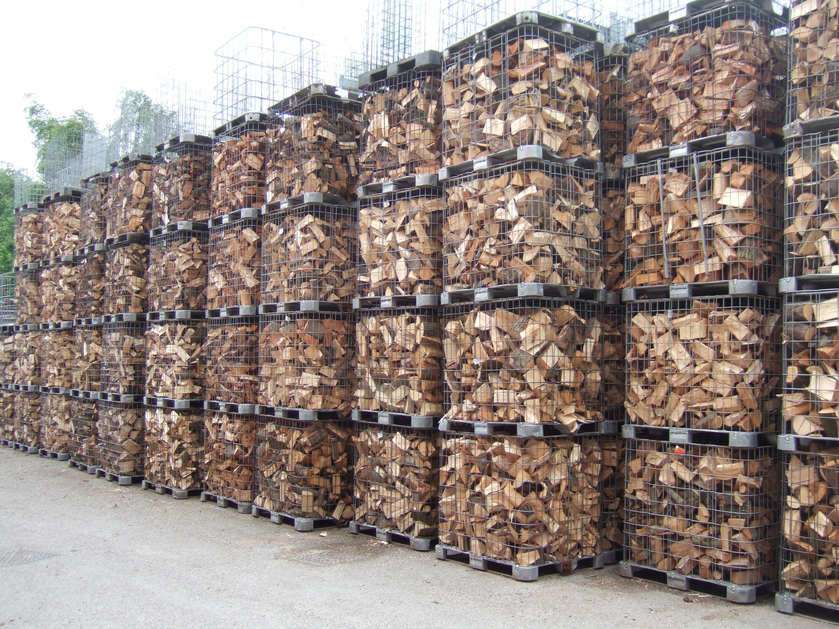 Outdoor Firewood Storage Containers Firewood Drying In Cages Wood Kiln Dried Firewood