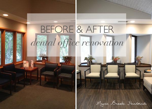 Before After Dental Office Renovation Megan Brooke Handmade