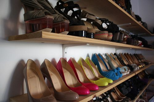 shoe rackbuy the inexpensive long shelves and wall brackets from lowes