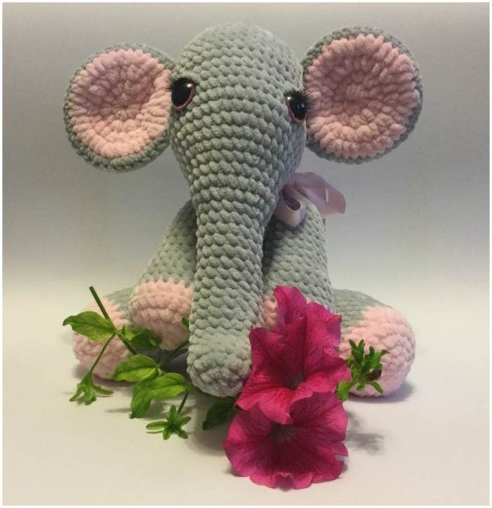 Beautiful Lady Crochet Elephant