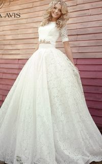 8f8edb7742dae6b свадебное платье в стиле рустик, бохо Kiana, раздельное, топ и юбка ...