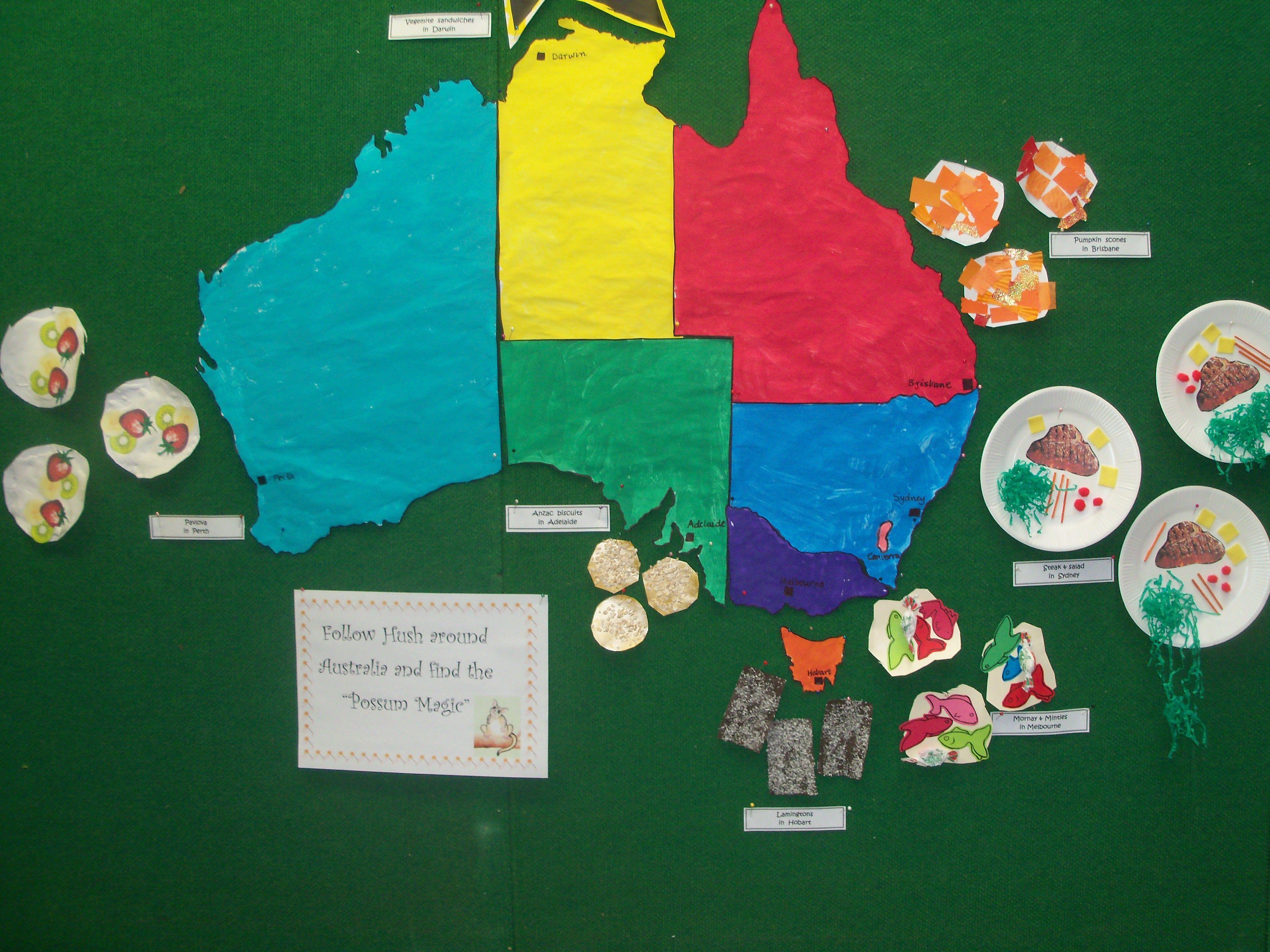 Picture Of Map Of Australia%0A Possum Magic  Australia map experience