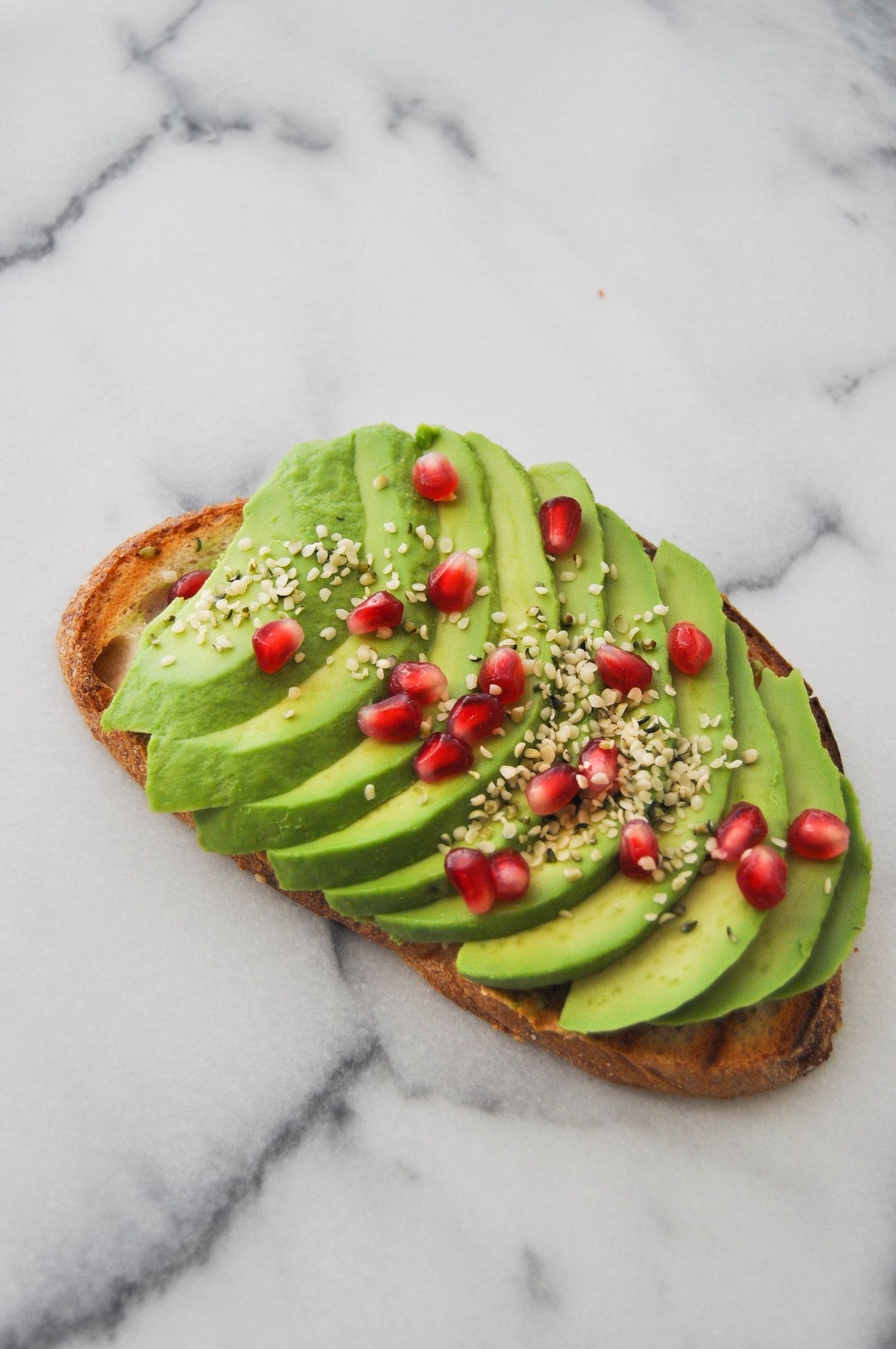 Avocado toast hemp seeds