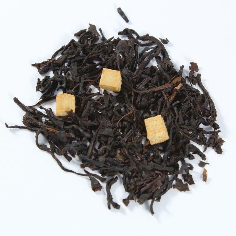 Caramelo Inglés.   Selección de tés negros con trozos  del clásico caramelo inglés.