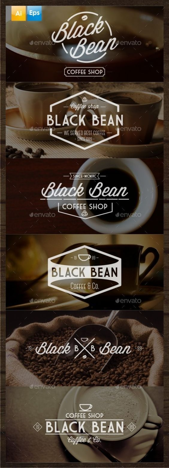 6 Vintage Coffee Logo Template AI, EPS Buy and Download