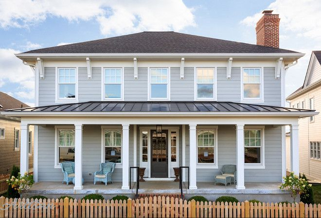Benjamin Moore HC-169 Coventry Gray. Artisan Signature Homes. #greyexteriorhousecolors