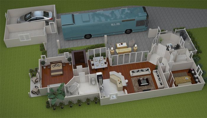 Reunion pointe features four rver designed floor plans for Small house plans with rv garage