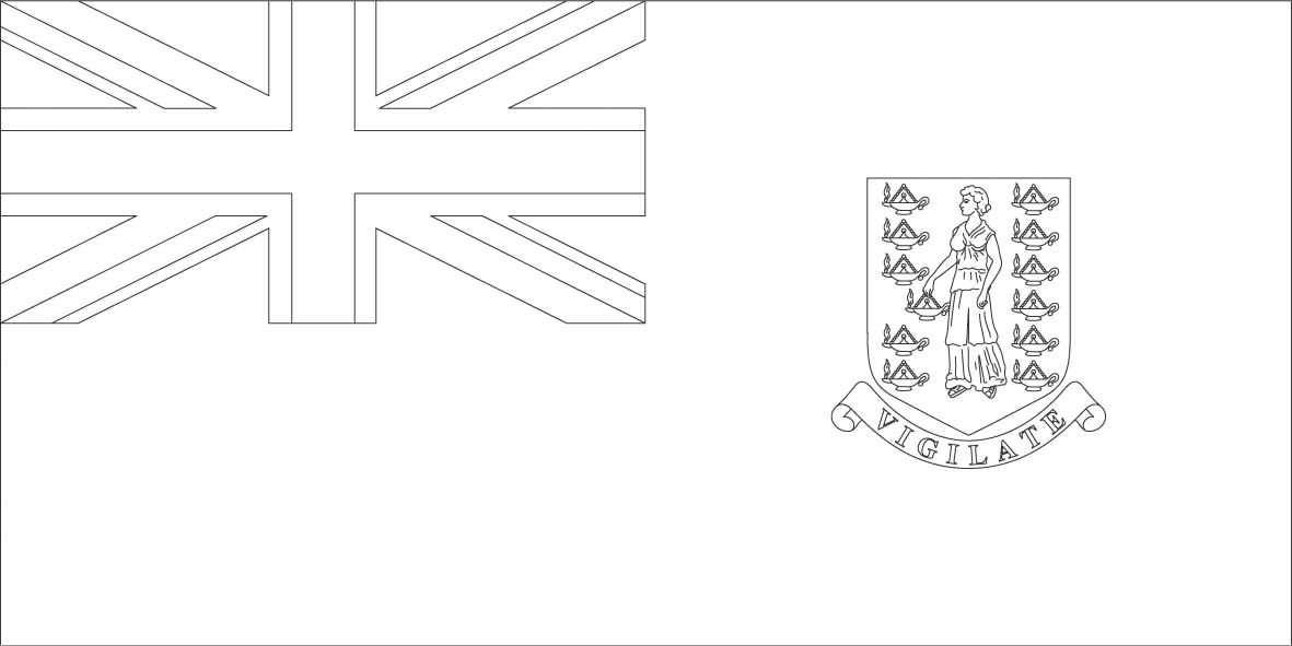 British Virgin Islands Flag Coloring Pages Mandala Coloring
