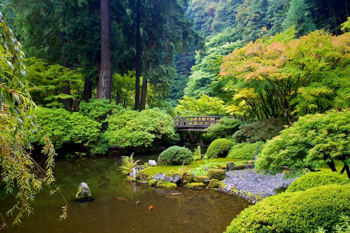Portland Japanese Garden in Washington Park, Portland