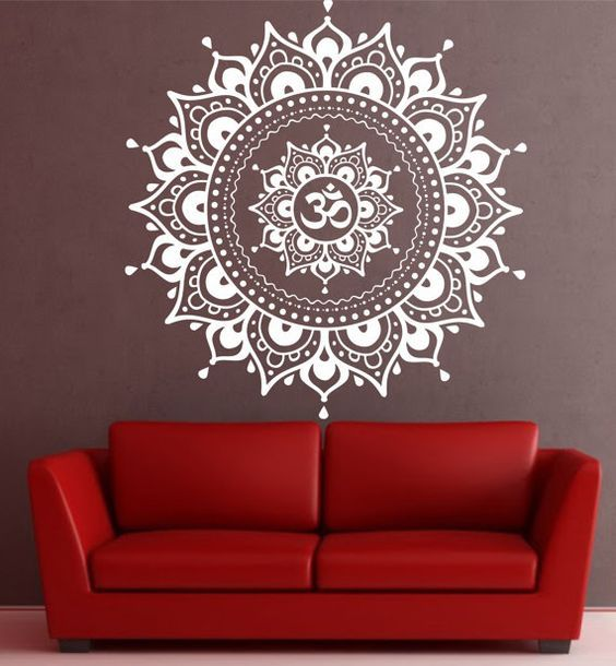Bohe Mandala Flower Wall Paper Decor Yoga Studio Vinyl: Mandala Wall Decal Mandala Decal Yoga Om Namaste Yoga