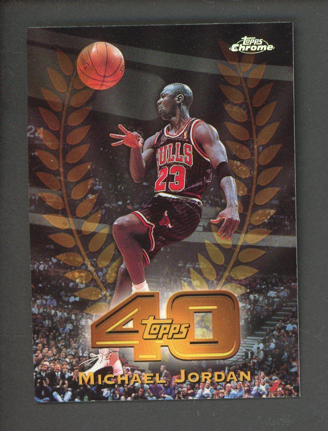 online retailer 924c4 7ac41 1997-98 Topps Chrome 40th Refractor Michael Jordan Chicago Bulls HOF   BasketballCards