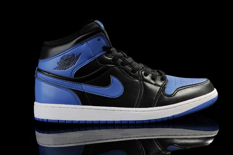 nike air jordan black and blue