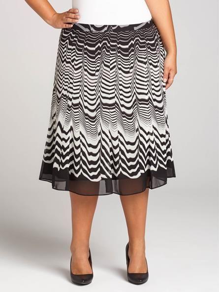 Laura Plus For Women Size 14 Laura Plus Chiffon Wave Print