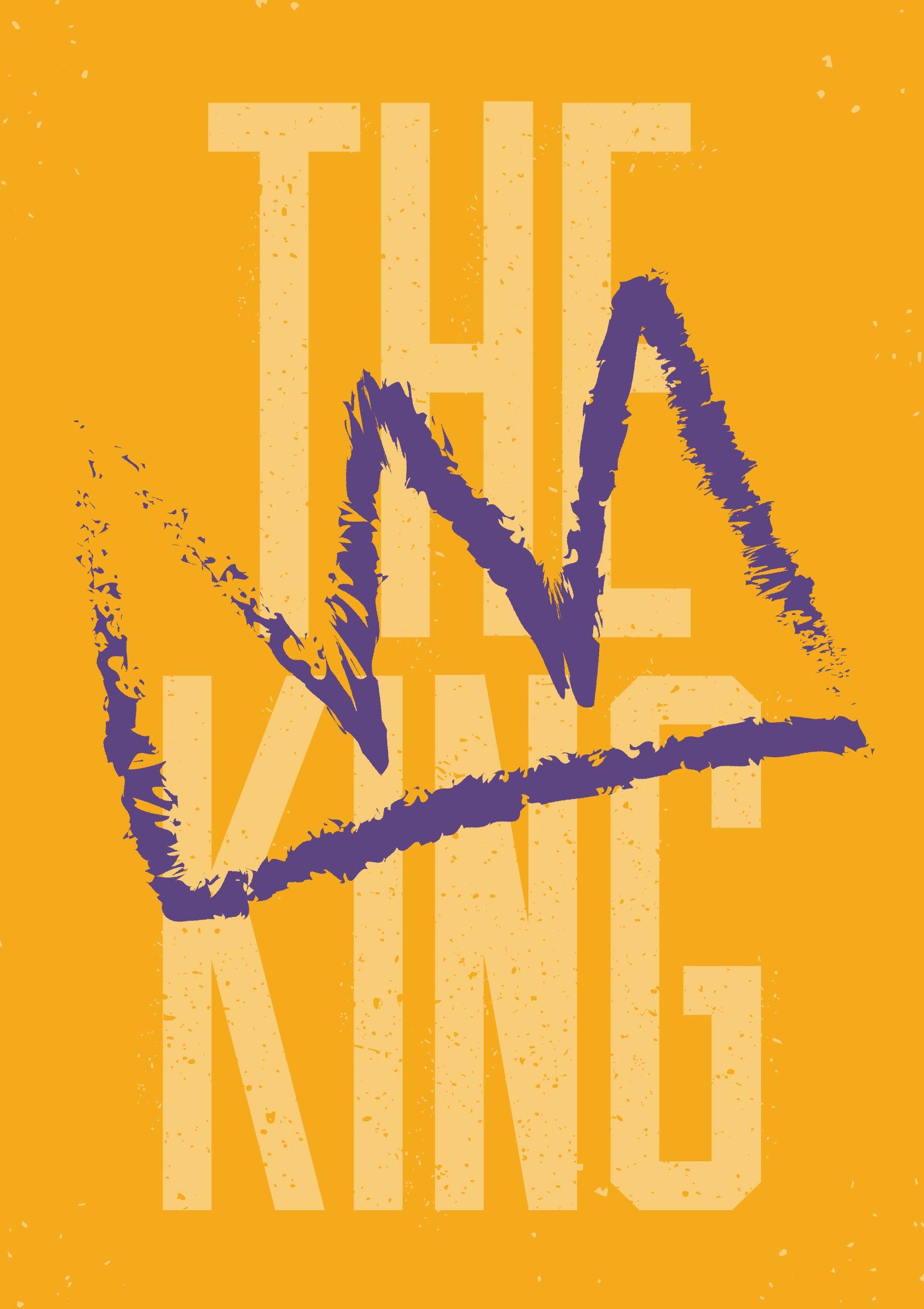 The King graffiti downloadable wall art print/poster by Robot Eats ...