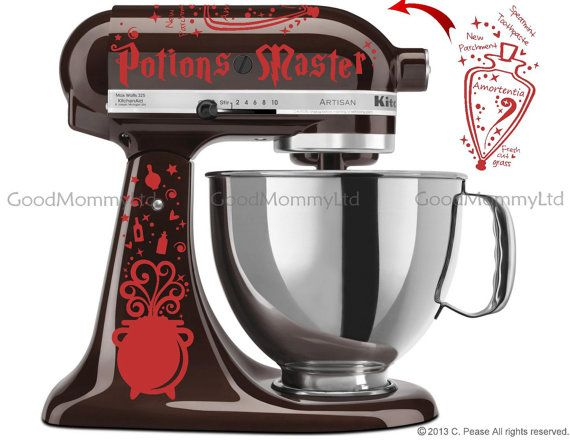 Potions Master Decal Kit For Your Kitchenaid Stand Mixer Wizard