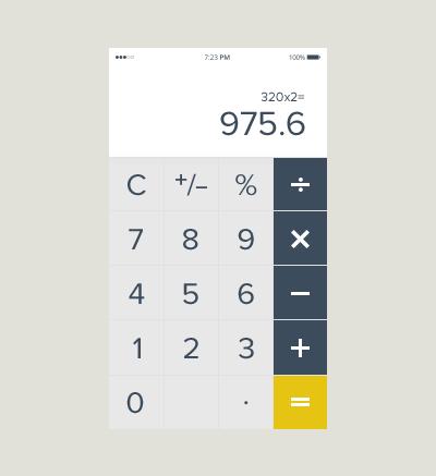 #calculator #mobile #design #ui #element