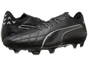 PUMA evoTOUCH 3 Leather FG (Puma Black/Puma Black/Puma Silver) Men's Shoes
