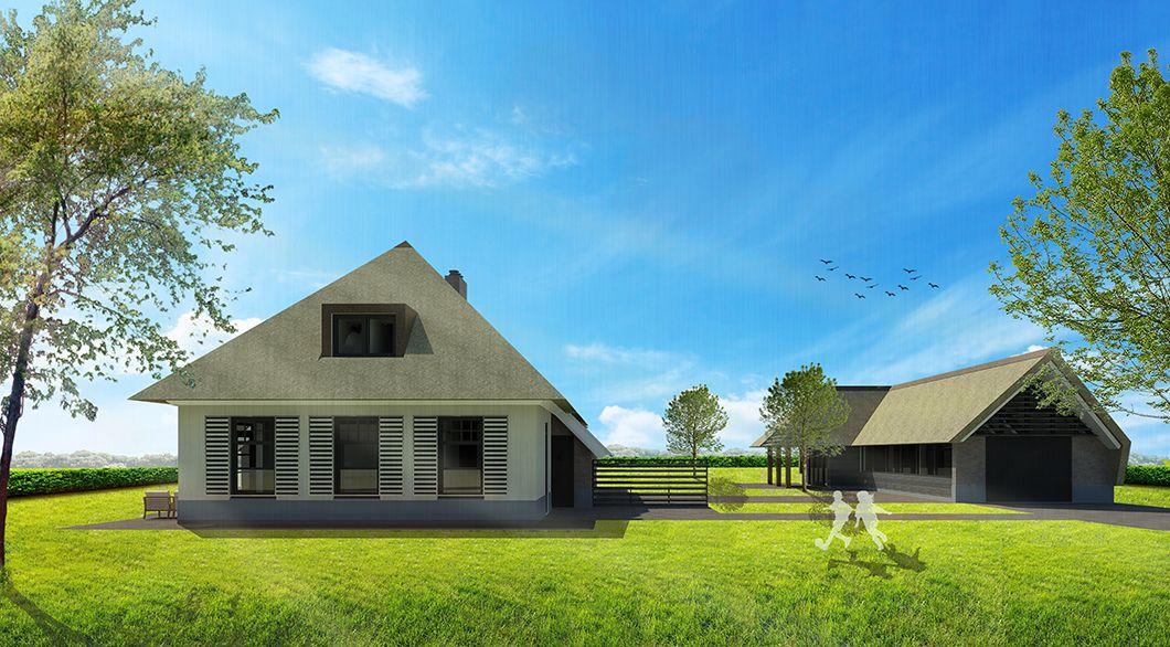 Hedendaagse woonboerderij met vrijstaande schuur huisinspiratie