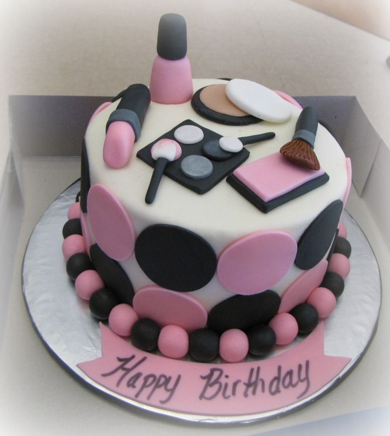 Remarkable Mary Kay Makeup Birthday Cake Makeup Birthday Cakes Make Up Funny Birthday Cards Online Alyptdamsfinfo