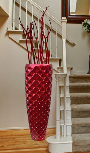 Modern Red Tall Floor Vase 44 Inch Decoracin Salas Pinterest