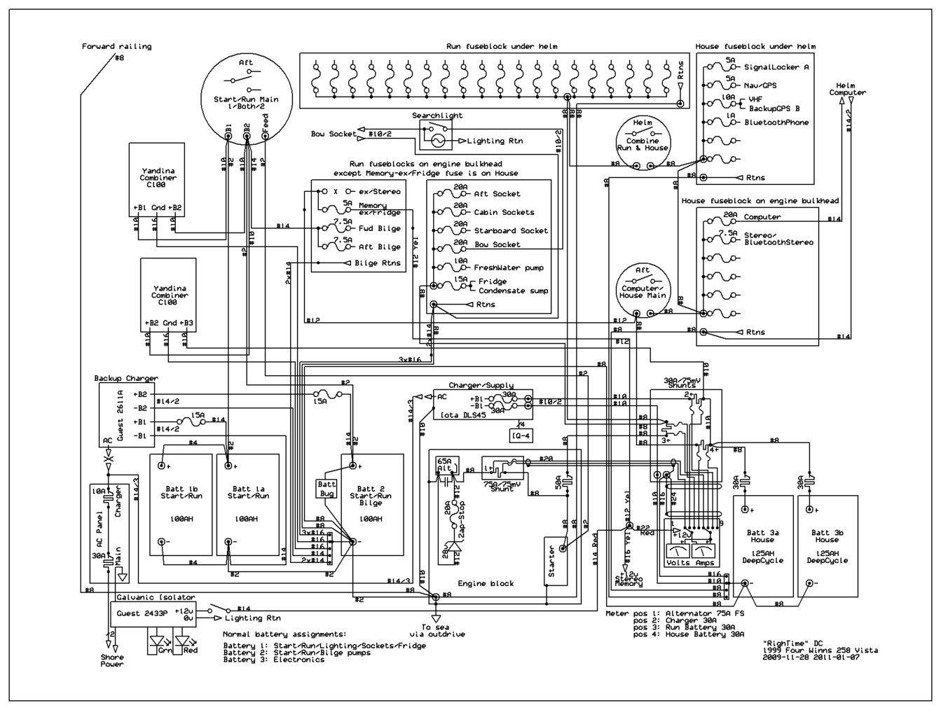 Marine Power Wiring Diagrams