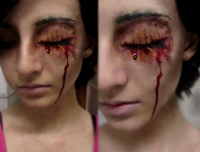 Gory bloody horror eye makeup | Make up | Pinterest | Haunted ...