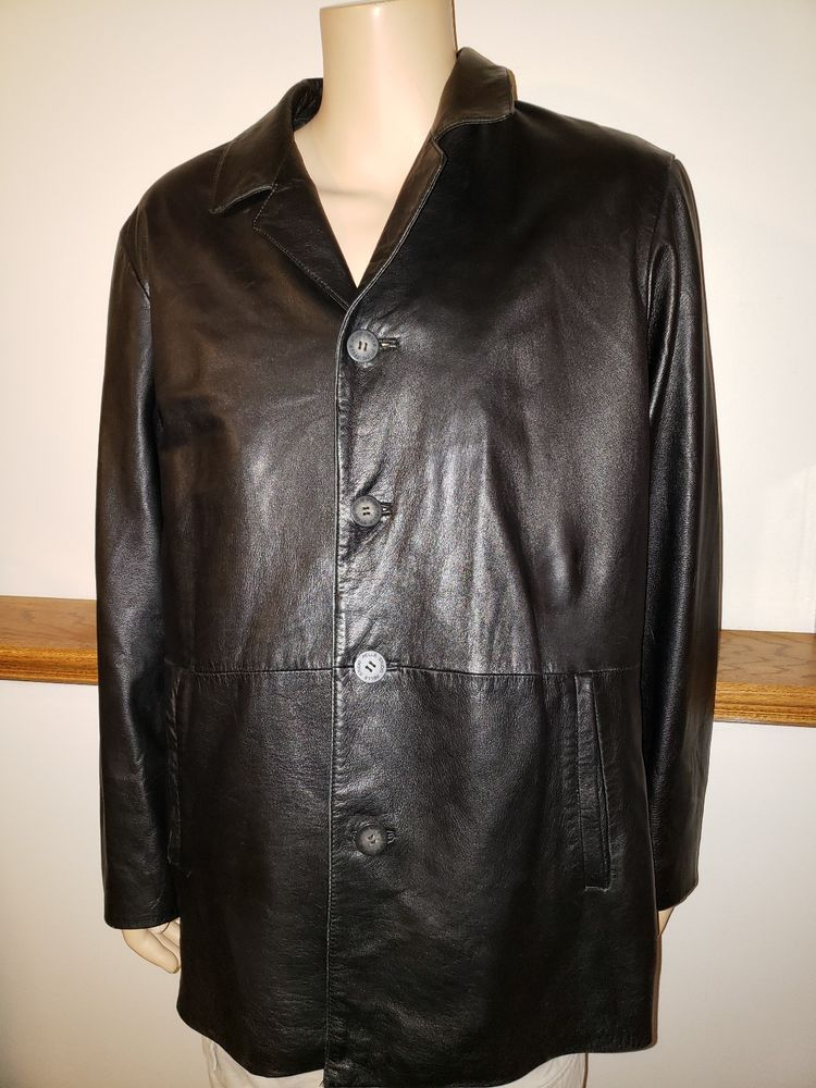WILSON LEATHER JACKET MENS LARGE PELLE STUDIO THINSULATE