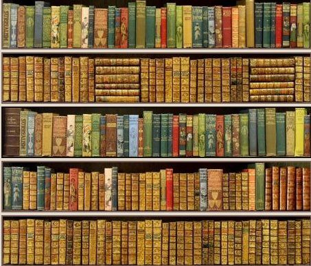 Book Wallpaper Of book-themed wallpaper | bookcase wallpaper ...