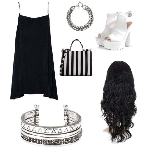 DATE WITH YOU BOO  by rayvan-janay on Polyvore featuring polyvore moda style Glamorous Dolce&Gabbana Yves Saint Laurent