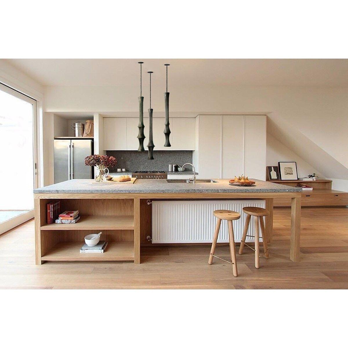 Lampe suspension slim black 3 ilot cuisine relooking - Relooking salle a manger rustique ...