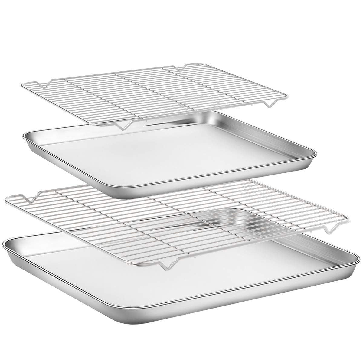 Baking Sheet With Rack Set Yododo Stainless Steel Cookie Sheet