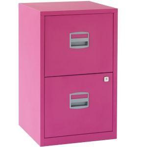Bisley 2 Drawer Locking A4 Filing Cabinet Pfa2 Fuschia Pink Filing Cabinet Drawer Filing Cabinet Steel Filing Cabinet