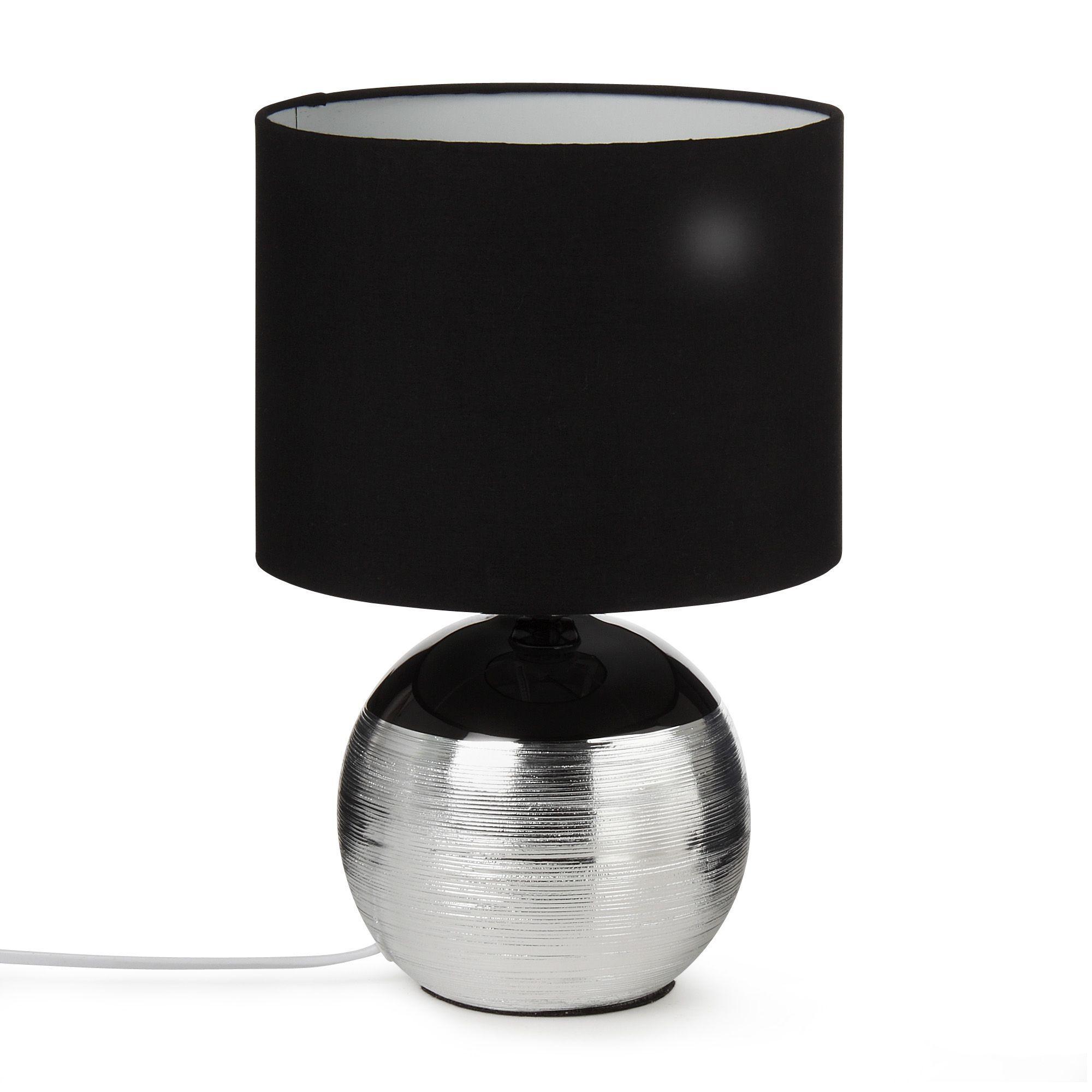 lampe a poser noir et argent
