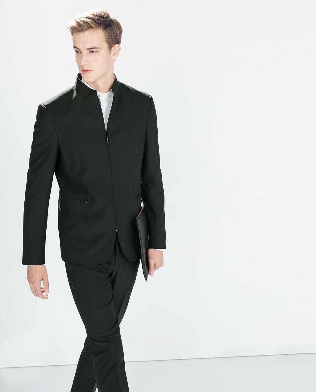 e457a59f7b MAO COLLAR ZIPPED BLAZER - Blazers - MAN | ZARA Egypt | Style | Zara ...