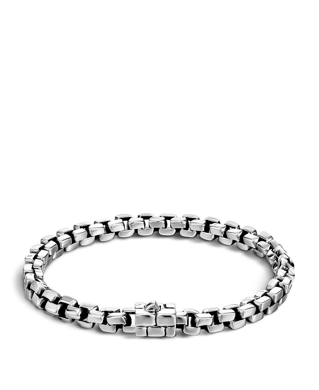 9e6e56a6aa5a1 Men's Silver Square Link Bracelet in 2019 | John Hardy | Link ...
