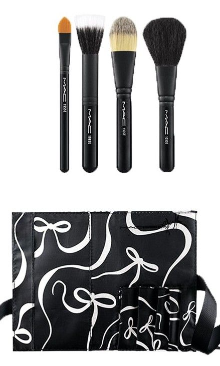 Put your best face forward with MAC's essential brush kit.