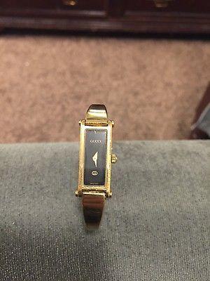 27661adc7fd Rare vintage Gucci 1500 YA015510 18k gold plated Wrist Watch for Women