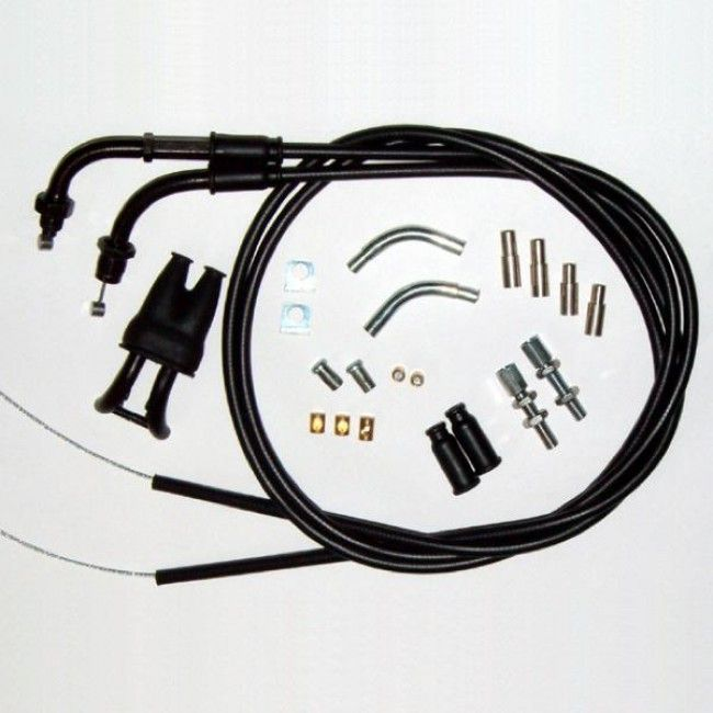 Venhill Universal Motorcycle Dual Throttle Cable Kit Throttle Universal Kit