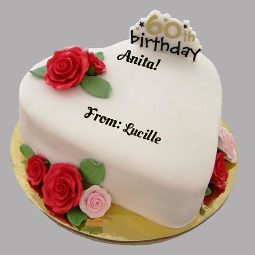 Happy 60th Birthday Cake With Your Name | Birthday Wishes | Happy