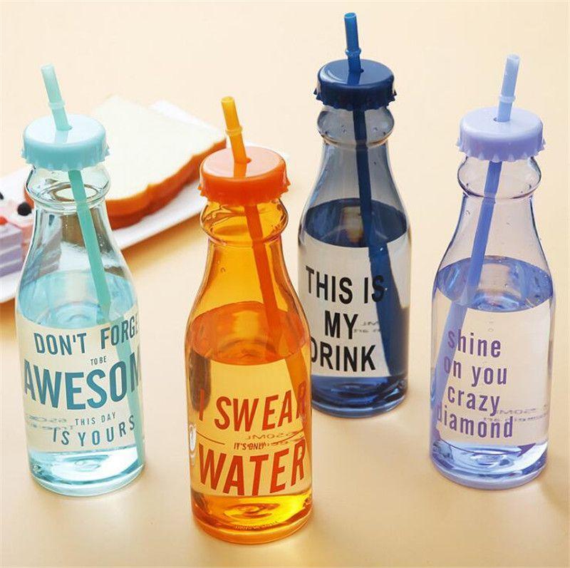 650 мл Мода Небьющиеся Бутылки С Водой Пластиковые ...