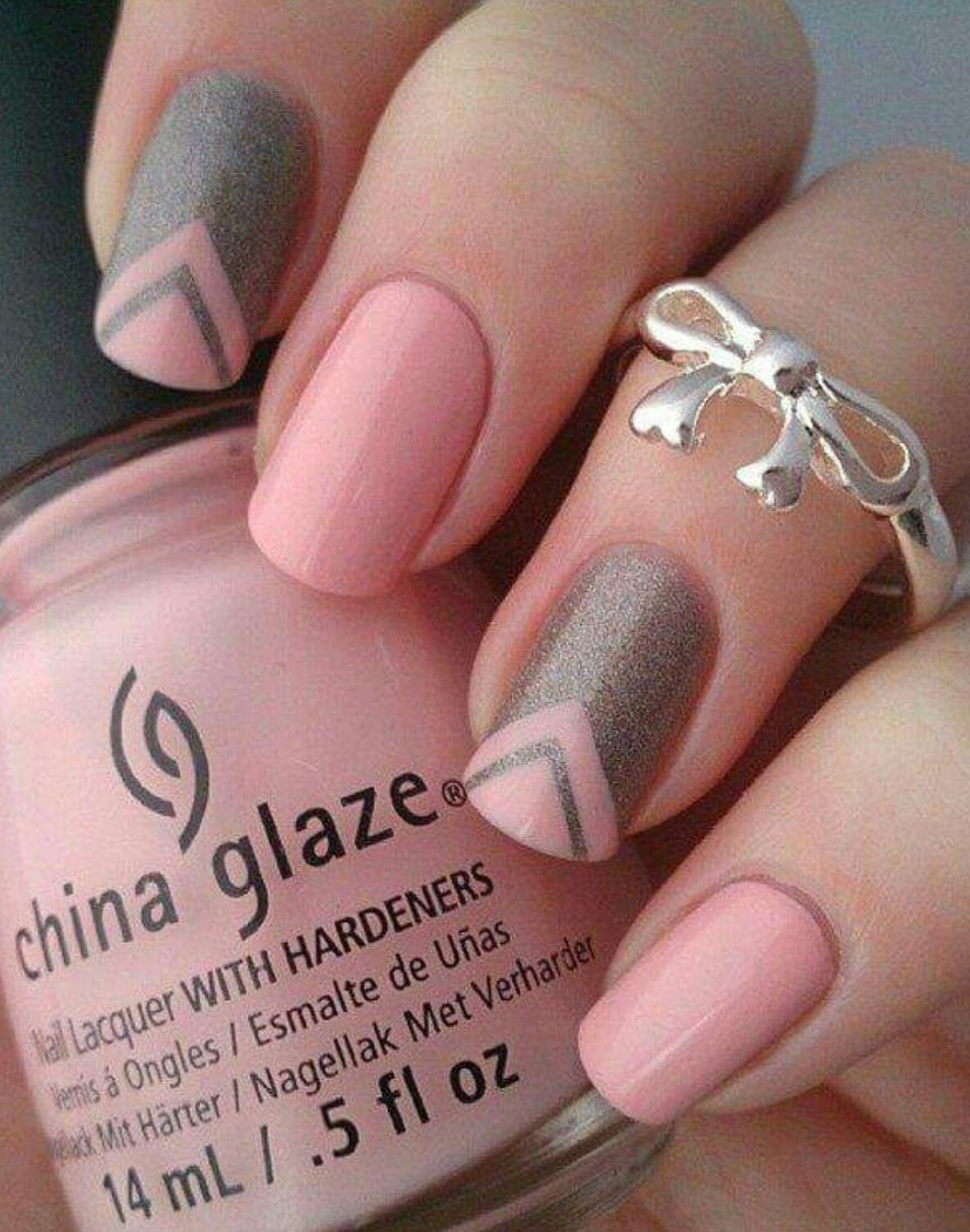 Arrow designed nails... Pink colour... | Looking good | Pinterest ...